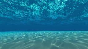 Onderwater, oceaanoppervlakte en bodem stock videobeelden