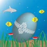 Onderwater Pasen Stock Afbeeldingen