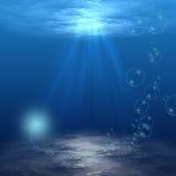 Onderwater Scène Royalty-vrije Stock Afbeeldingen