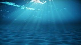Onderwater scène De achtergrond van de de zomerreis stock footage
