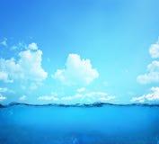 Onderwater scène Stock Afbeeldingen