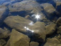 Onderwater stenen Stock Foto's