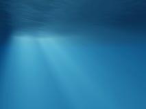 Onderwater stralen van licht Stock Afbeeldingen