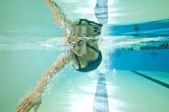 Onderwater vrouw Stock Fotografie
