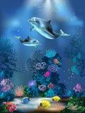 Onderwater wereld royalty-vrije illustratie
