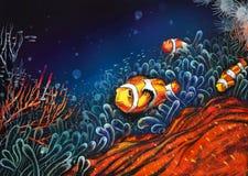 Onderwater wereld. Royalty-vrije Stock Afbeeldingen