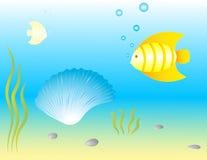Onderwater wereld. Vector. Stock Afbeelding