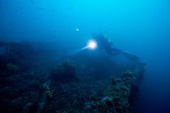 Onderwater wrak 1 royalty-vrije stock foto
