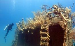 Onderwater wrak stock afbeelding