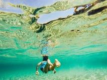 Onderwateraardstudie Stock Afbeelding
