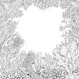 Onderwaterachtergrond met Koralen Royalty-vrije Stock Afbeelding