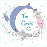 Onderwaterdieren royalty-vrije illustratie