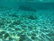 Onderwatereiland Evvoia een plaats aan reis daar Stock Afbeeldingen