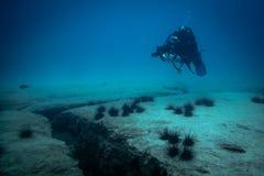 Onderwaterfotograaf royalty-vrije stock fotografie
