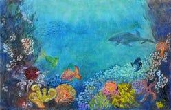 Onderwaterlandschap Royalty-vrije Stock Afbeeldingen
