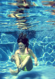 Onderwatermeisje royalty-vrije stock fotografie