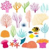Onderwaterontwerpelementen Royalty-vrije Stock Afbeeldingen