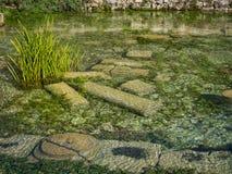 Onderwaterruïnes van Limyra, Turkije Royalty-vrije Stock Foto