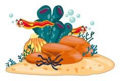 Onderwaterscène royalty-vrije illustratie