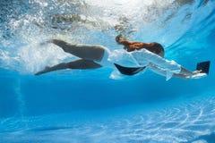 Onderwaterspruit stock foto