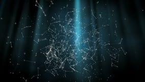 Onderwaterzonlichtlijn met veelhoekige verbindende punten en lijnen stock illustratie