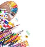 Onderwerpen voor school en het werk Stock Afbeeldingen