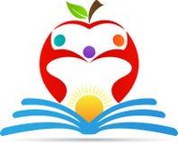 Onderwijs Apple stock illustratie