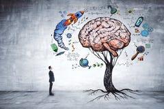 Onderwijs, de groei, uitwisselings van ideeën en startconcept royalty-vrije stock foto's