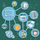 Onderwijs de online universiteit van de de schooluniversiteit van de opleidingsinzameling Stock Afbeeldingen