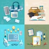 Onderwijs die, online, student, onderzoek, kennis, boeken leren Stock Fotografie