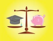 Onderwijs en geld Stock Afbeeldingen