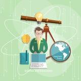 Onderwijs en wetenschapsleraarsstudenten Stock Afbeeldingen