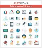Onderwijs en Wetenschapspictogrammen Vector Illustratie