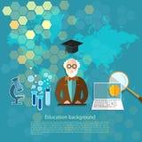 Onderwijs en wetenschapsprofessorsleraren in het klaslokaal Royalty-vrije Stock Afbeelding