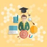Onderwijs en wetenschapsstudenten universitair concept Stock Afbeeldingen