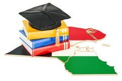 Onderwijs in het concept van Koeweit, het 3D teruggeven Royalty-vrije Stock Fotografie