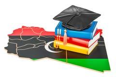 Onderwijs in het concept van Libië, het 3D teruggeven Stock Foto