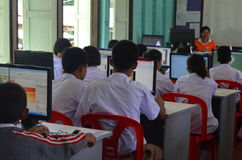 Onderwijs in het Klaslokaal Royalty-vrije Stock Foto