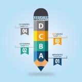 Onderwijs Infographic Stock Foto's