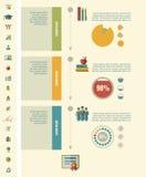 Onderwijs Infographics Stock Foto's