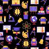 Onderwijs kleurrijk naadloos patroon Stock Afbeelding