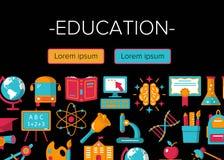 Onderwijs kleurrijke banner Stock Foto's