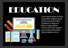 Onderwijs kleurrijke horizontale banner Stock Afbeeldingen