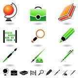 Onderwijs pictogrammen Royalty-vrije Stock Foto's