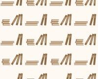Onderwijs van het boeken het naadloze patroon Achtergrond met boeken op een wit Stock Foto's