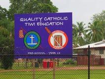 Onderwijs van kwaliteits het Katholieke Tiwi Royalty-vrije Stock Foto