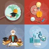 Onderwijs vastgesteld het diploma online concept van de professorsleraar Royalty-vrije Stock Afbeeldingen