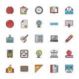 Onderwijs Vectorpictogrammen 5 stock illustratie