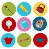 Onderwijs vlakke pictogrammen Royalty-vrije Stock Foto's