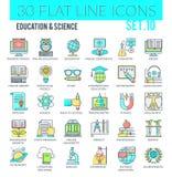Onderwijs & Wetenschapspictogrammen Royalty-vrije Illustratie